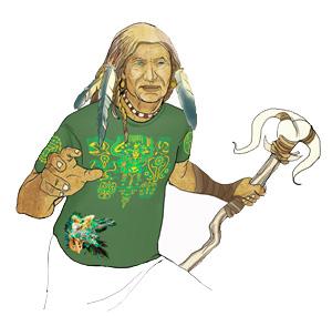 Интегральная футболка Kahu Tatu Shaman T-Shirt мужская
