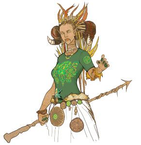 Интегральная футболка Kahu Tatu Shaman T-Shirt женская