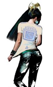 Интегральная футболка «Атлантид» женская. вид со спины