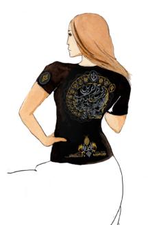 Эфирная интегральная футболка женская спина