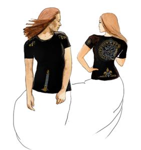 Эфирная интегральная футболка женская