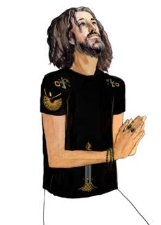 Эфирная интегральная футболка мужская перед