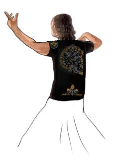 Эфирная интегральная футболка мужская
